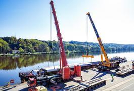 Tandemhub im Passauer Hafen