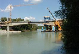 Mühldorfs neue Bahnbrücke über den Inn